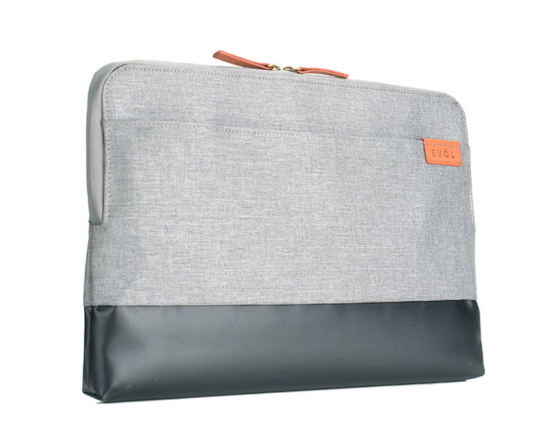 "EVOL Uluru 11"" Light Grey Herringbone-Poly/Coated Canvas Laptop Sleeve Herringbone-Poly"