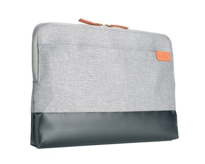 "EVOL Uluru 13.3"" Light Grey Herringbone-Poly/Coated Canvas Laptop Sleeve Herringbone-Poly"