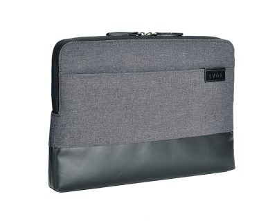 "EVOL Uluru 13.3"" Dark Grey Heather-Poly/Coated Canvas Laptop Sleeve Heather-Poly"