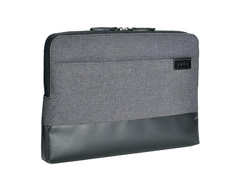"EVOL Uluru 13.3"" Dark Grey Heather-Poly/Coated Canvas Laptop Sleeve Heather-Poly"