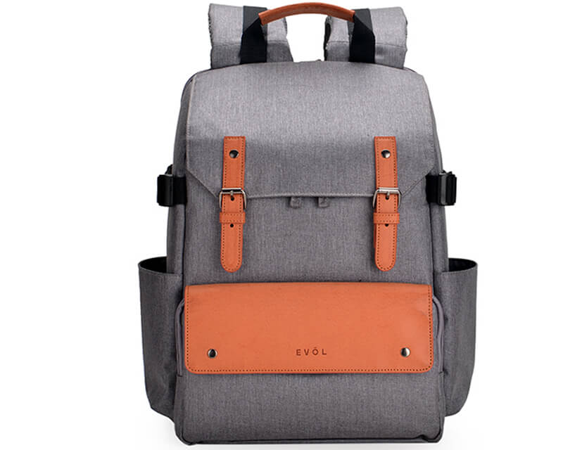 EVOL EVOL Brunswick SLR Laptop Backpack Grey Herringbone Herringbone-Poly