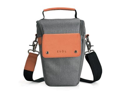 EVOL EVOL Brunswick SLR Medium Camera Case Grey Herringbone Herringbone-Poly