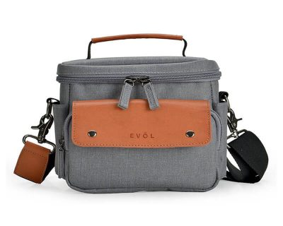 EVOL EVOL Brunswick SLR Compact I Camera Case Grey Herringbone Herringbone-Poly