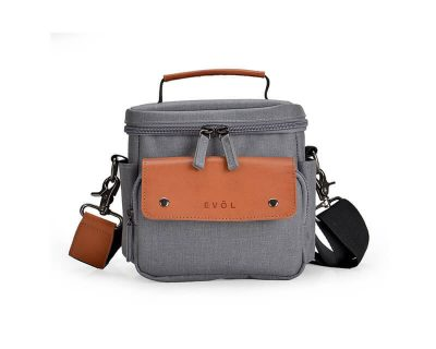 EVOL EVOL Brunswick SLR Compact II Camera Case Grey Herringbone Herringbone-Poly
