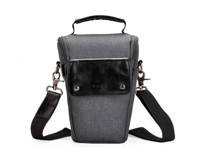 EVOL EVOL Brunswick SLR Medium Camera Case Granite Herringbone Herringbone-Poly