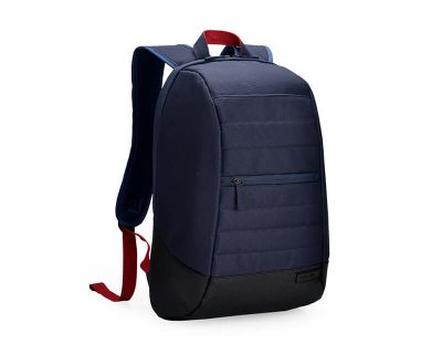 "AGVA-Basics 15.6"" Navy Laptop Backpack"