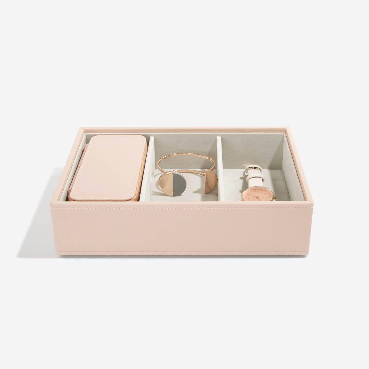 Blush Medium Travel Jewellery Box