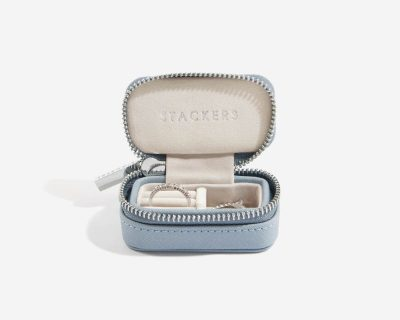 Dusky Blue Petite Travel Jewellery Box