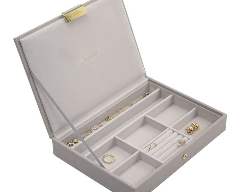 Taupe Classic Jewellery Box Lid
