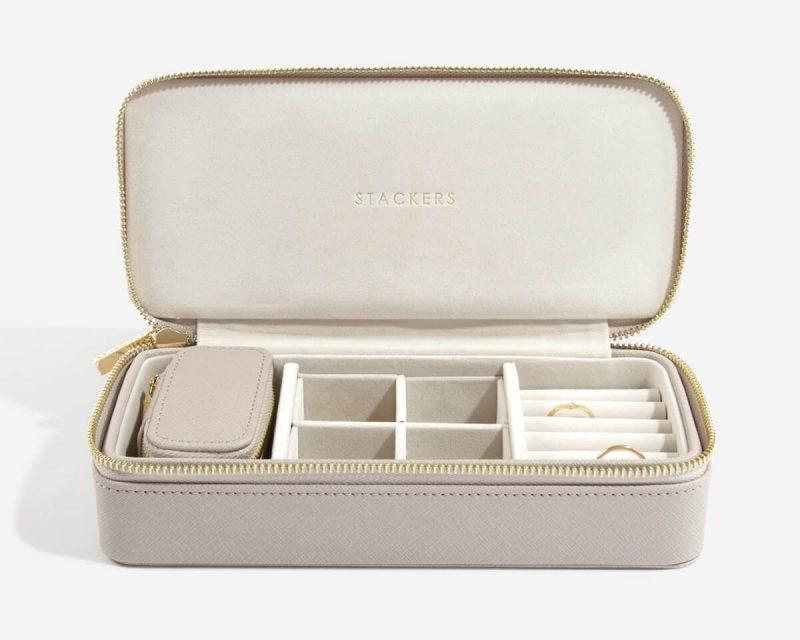 Taupe Petite Travel Jewellery Box