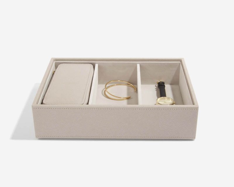 Taupe Medium Travel Jewellery Box