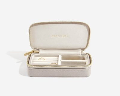 Taupe Medium Travel Jewellery Box