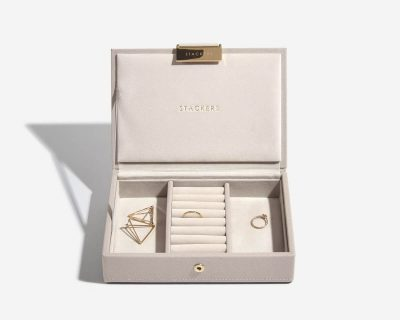 Taupe Mini Jewellery Box Lid