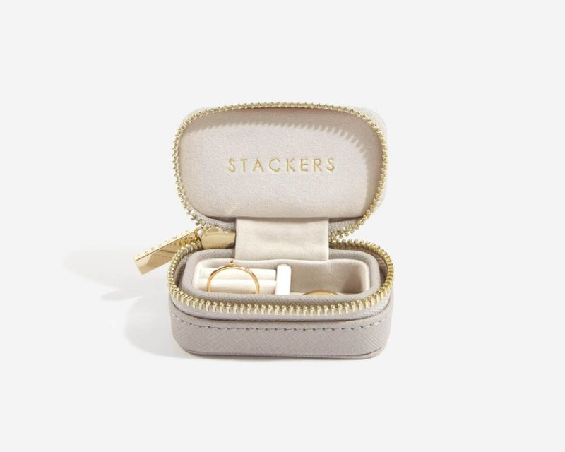 Taupe Large Travel Jewellery Box
