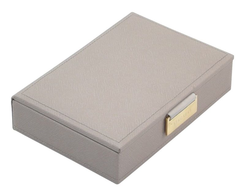 Taupe Mini Jewellery Box Lid