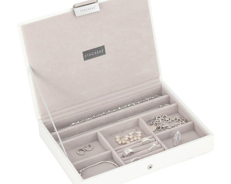 White Classic Jewellery Box Lid