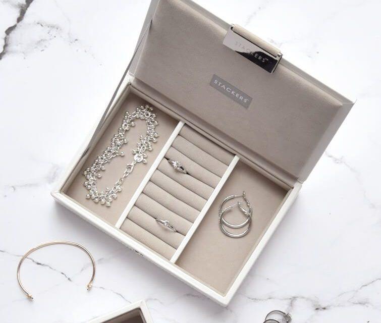 White Mini Jewellery Box Lid